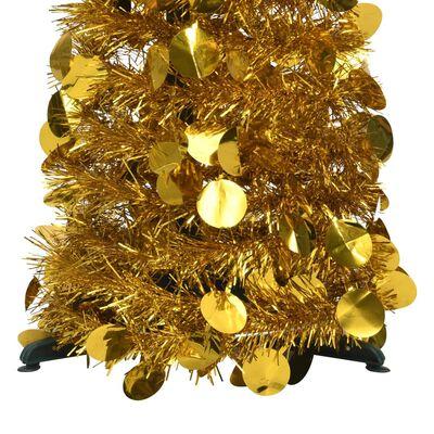vidaXL Pop-up plastgran guld 120 cm PET