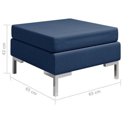 vidaXL Fotpall till modulsoffa med dyna tyg blå