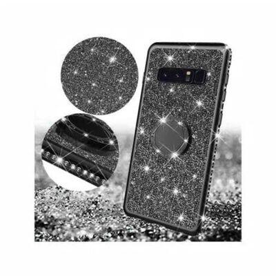 Samsung S10 Plus Stötdämpande Skal med Ringhållare Strass