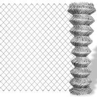 vidaXL Flätverksstängsel galvaniserat stål 15x1,25 m silver