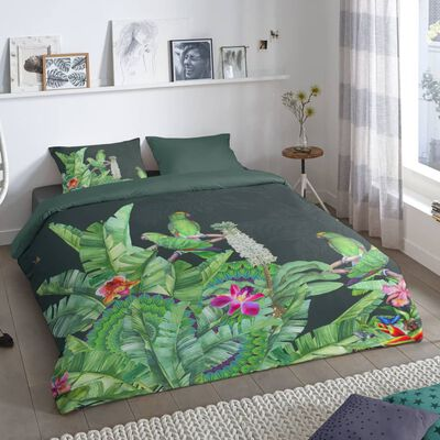 Good Morning Bäddset CATO 155x220 cm grön