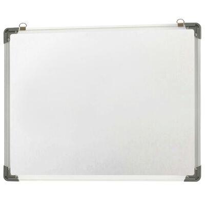 vidaXL Magnetisk whiteboard vit 90x60 cm stål