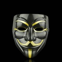 Anonymous face mask Guy Fawkes - Svart-Guld