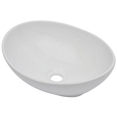 vidaXL Badrumsmöbler 2 delar keramik vit