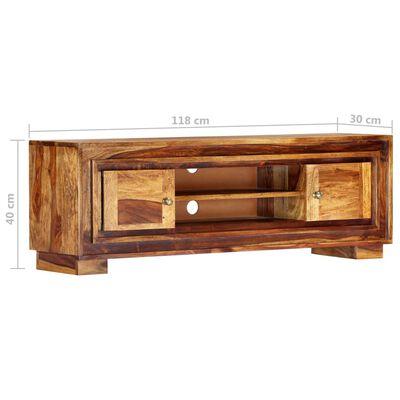 vidaXL TV-bänk 118x30x40 cm massivt sheshamträ