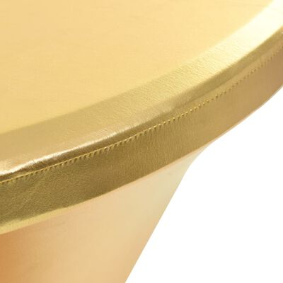 vidaXL Bordsöverdrag 2 st stretch guld 80 cm
