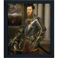 Med ram Man in Armour,Tintoretto,61x51cm