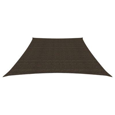 vidaXL Solsegel 160 g/m² brun 3/4x3 m HDPE