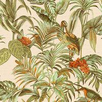 DUTCH WALLCOVERINGS Tapet Bird-of-Paradise grön