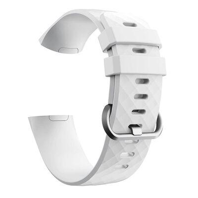 Fitbit Charge 3 armband silikon - vit/silver - Large