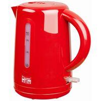Bestron Sladdlös elektrisk vattenkokare 1,7 L röd 2200 W AWK300HR