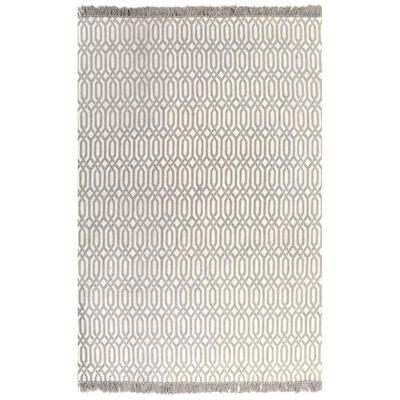 vidaXL Kelimmatta bomull 120x180 cm med mönster taupe,