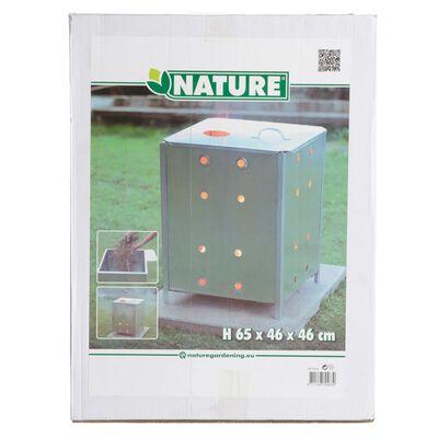 Nature Kompostbrännare galvaniserat stål 46x46x65 cm fyrkantig