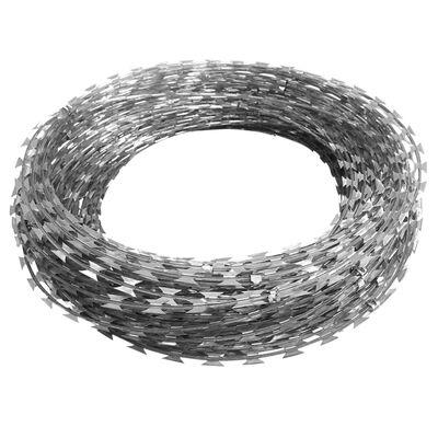 vidaXL Taggtråd klämmor NATO concertina galvaniserat stål 300 m