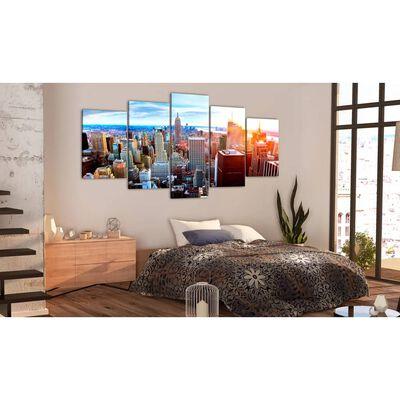 Tavla - New York Sunrise - 200x100 Cm