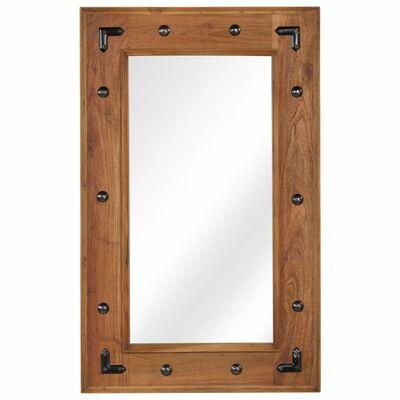 vidaXL Spegel massivt akaciaträ 50x80 cm