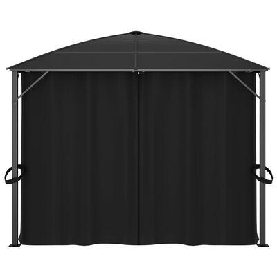 vidaXL Paviljong med draperi 400x300x265 cm antracit