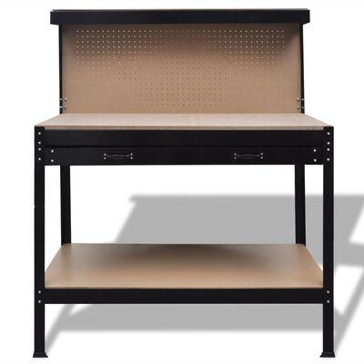 vidaXL Arbetsbänk med hålskiva och låda