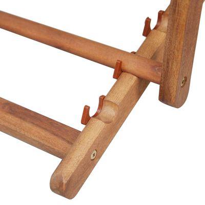 vidaXL Hopfällbar strandstol tyg och träram grå