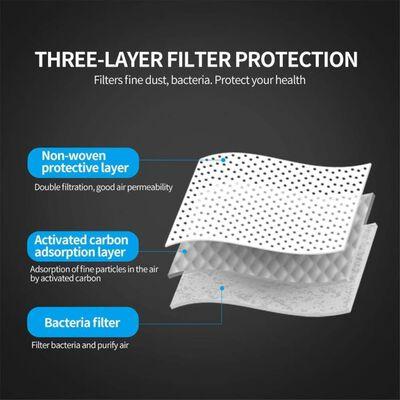 50-pack munskydd, skyddsmask, andningsmask 3 lager