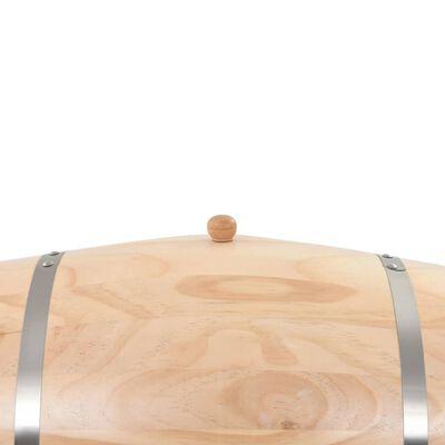 vidaXL Vintunna med kran massiv furu 35 L