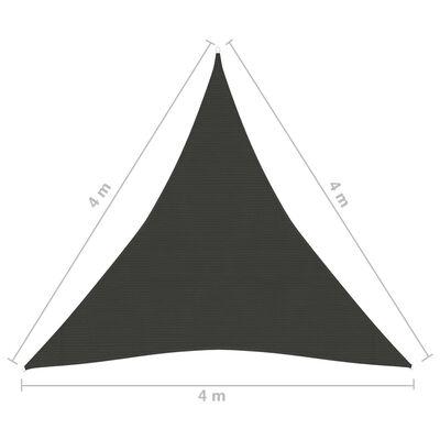 vidaXL Solsegel 160 g/m² antracit 4x4 m HDPE