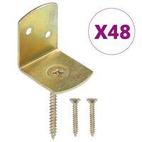 vidaXL L-beslag till staketpanel 48 st galvaniserad metall