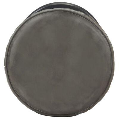 vidaXL Barstol grå nött äkta läder