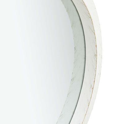 vidaXL Väggspegel med rem 60 cm vit