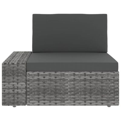 vidaXL Modulsoffa 2-sits konstrotting grå, Grey