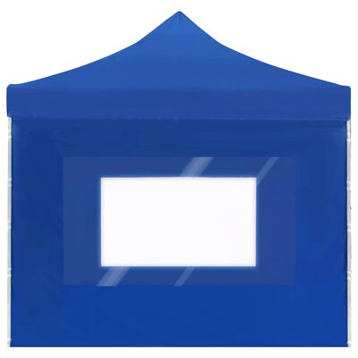 vidaXL Hopfällbart partytält med väggar aluminium 6x3 m blå