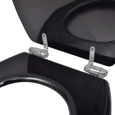 vidaXL Toalettsitsar med mjuk stängning 2 st MDF svart