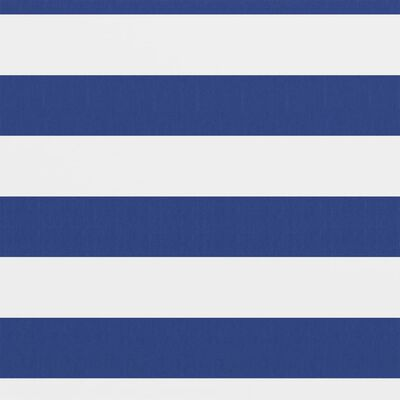 vidaXL Balkongskärm vit och blå 120x500 cm oxfordtyg, Whiteandblue