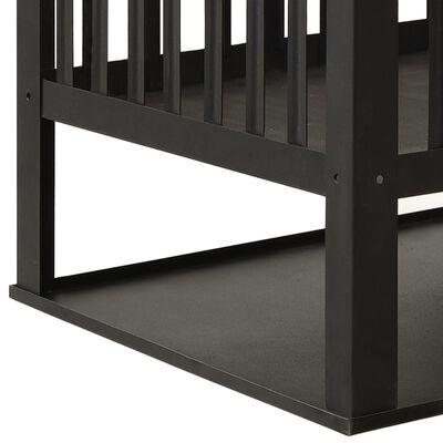 vidaXL Eldstad 40x40x40 cm stål