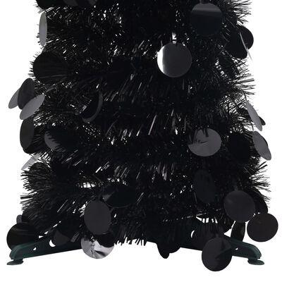 vidaXL Pop-up Plastgran svart 120 cm PET