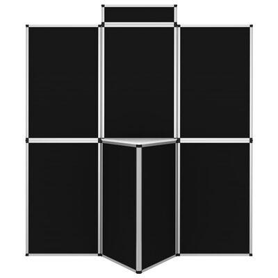 vidaXL Hopfällbar utställningsvägg 8 paneler med bord 181x200 cm svart