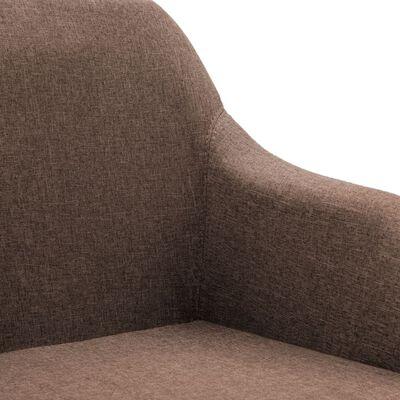 vidaXL Snurrbara matstolar 2 st brun tyg