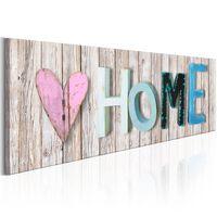 Tavla - Colourful Cottage - 120x40 Cm