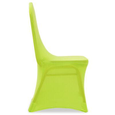 vidaXL Stolsöverdrag 6 st grön