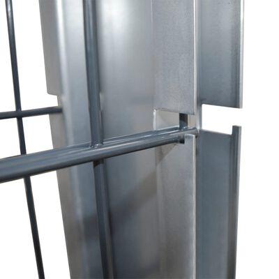 vidaXL 2D Gabionmur galvaniserat stål 2,008x1,83m 8m (total) grå