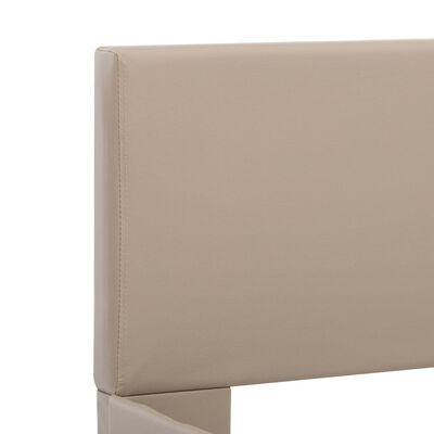 vidaXL Sängram med LED cappuccino konstläder 140x200 cm