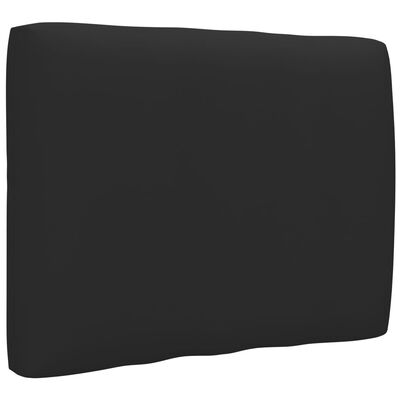 vidaXL Dyna till pallsoffa svart 50x40x12 cm