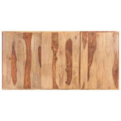 vidaXL Matbord med H-formade ben 180x90x77 cm massivt sheshamträ