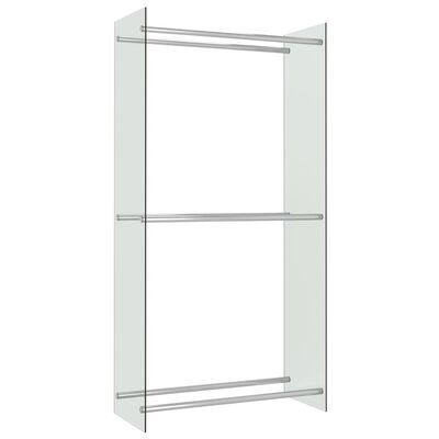 vidaXL Vedställ genomskinlig 80x35x160 cm glas