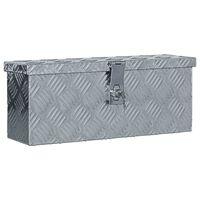 vidaXL Förvaringslåda aluminium 48,5x14x20 cm silver