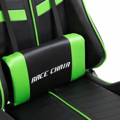vidaXL Gamingstol grön konstläder