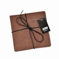 Gilbert Gilbert Glasunderlägg grå/brun läderlook 4-pack