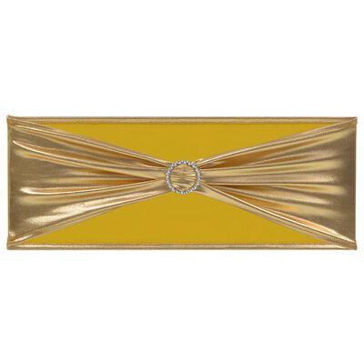 vidaXL 25 st Stolsband stretch diamantspänne guld