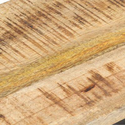 vidaXL Sidobord 2 st 31,5x24,5x64,5 grovt mangoträ