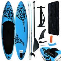 vidaXL SUP-bräda uppblåsbar 366x76x15 cm blå
